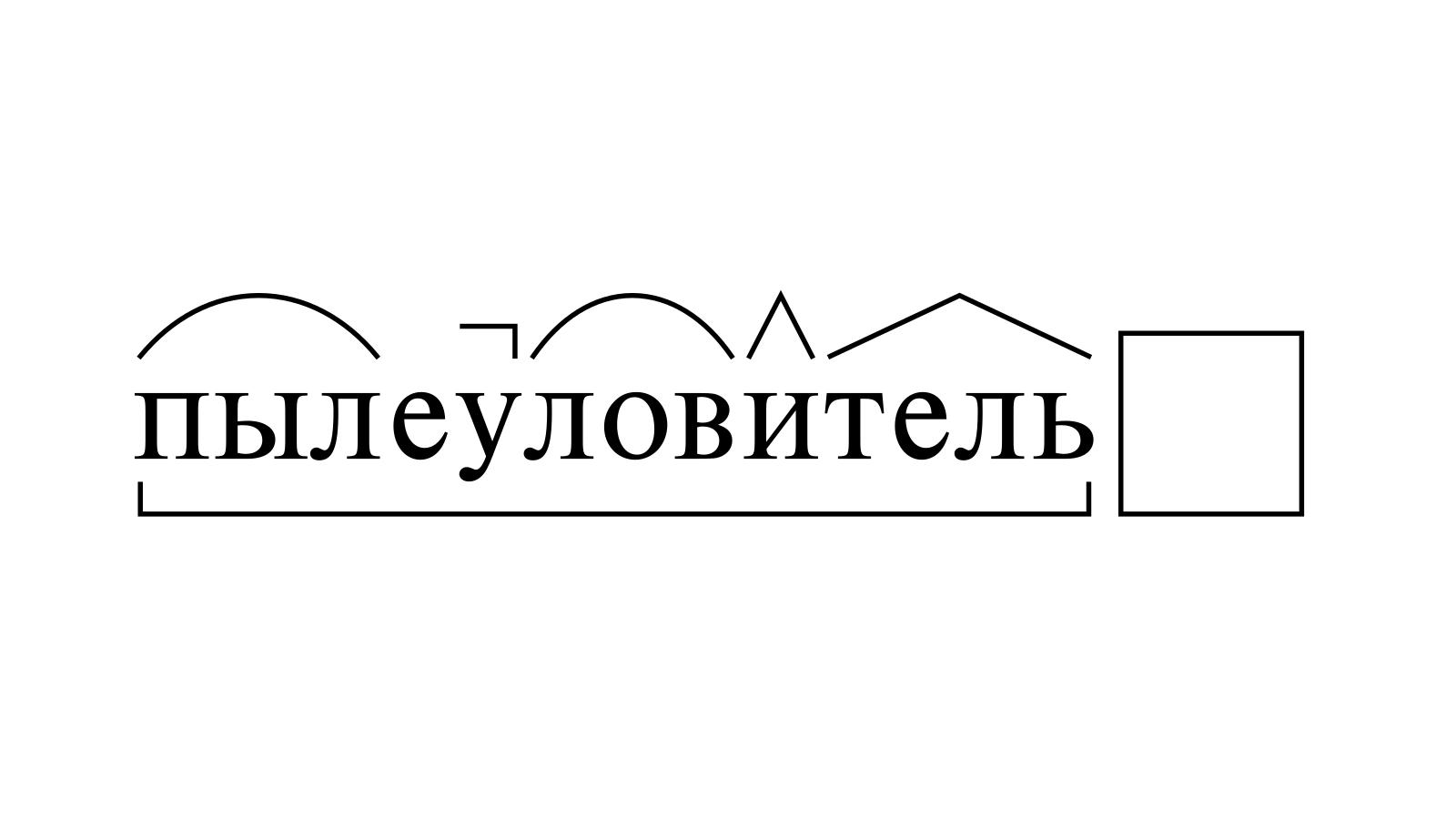 Разбор слова «пылеуловитель» по составу