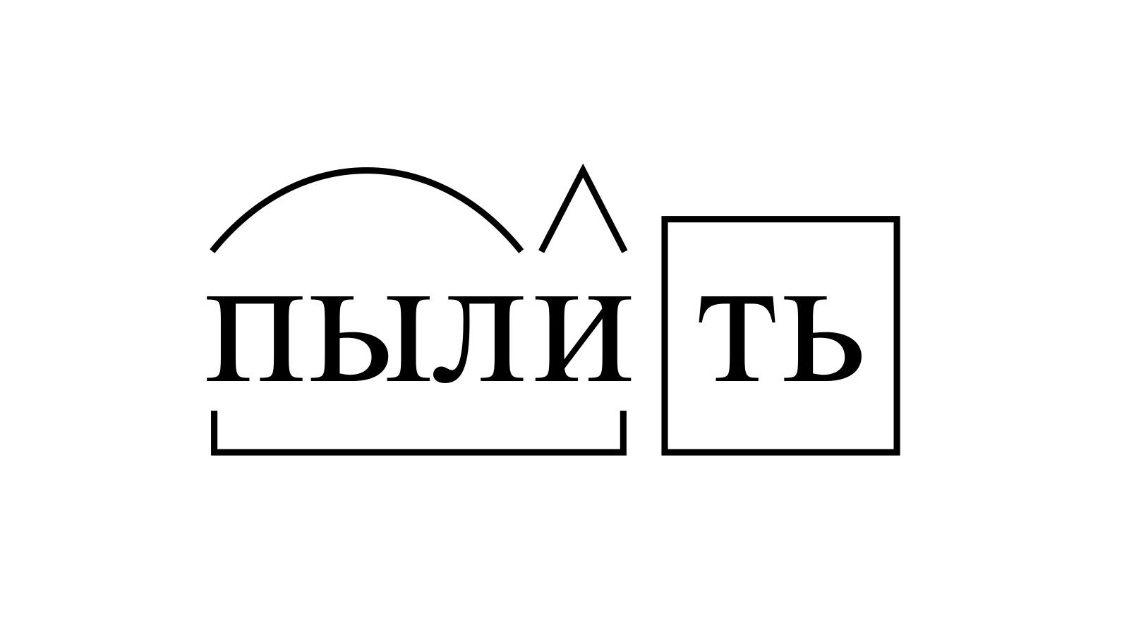 Разбор слова «пылить» по составу