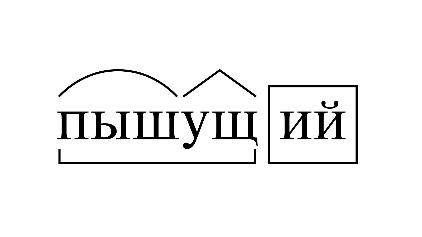 Разбор слова «пышущий» по составу
