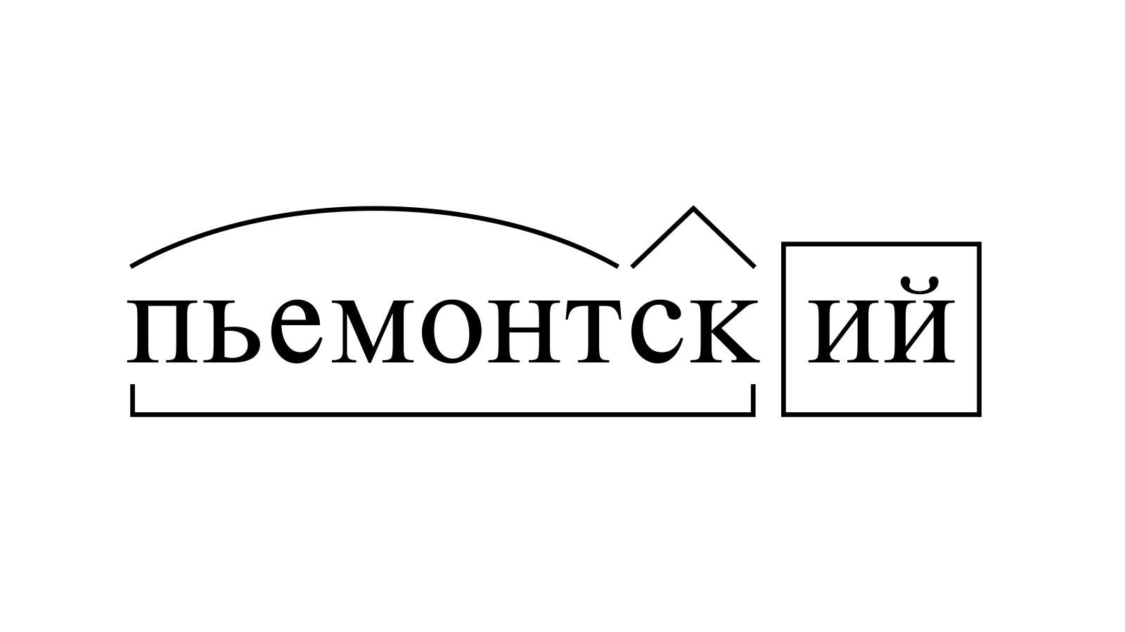 Разбор слова «пьемонтский» по составу