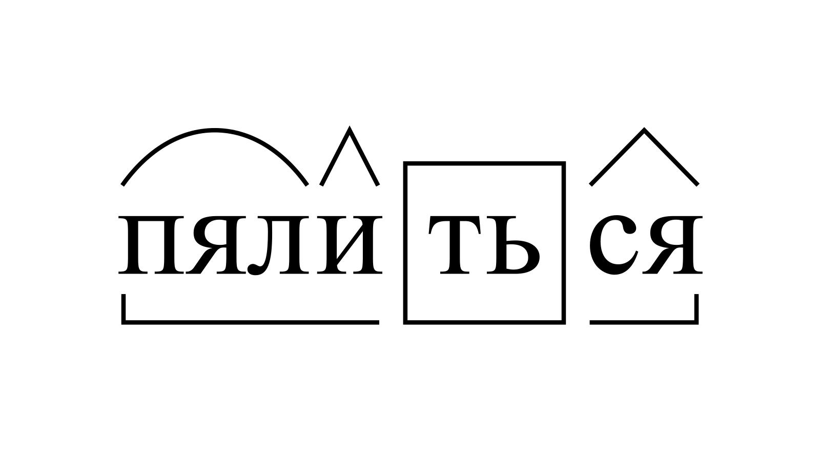 Разбор слова «пялиться» по составу