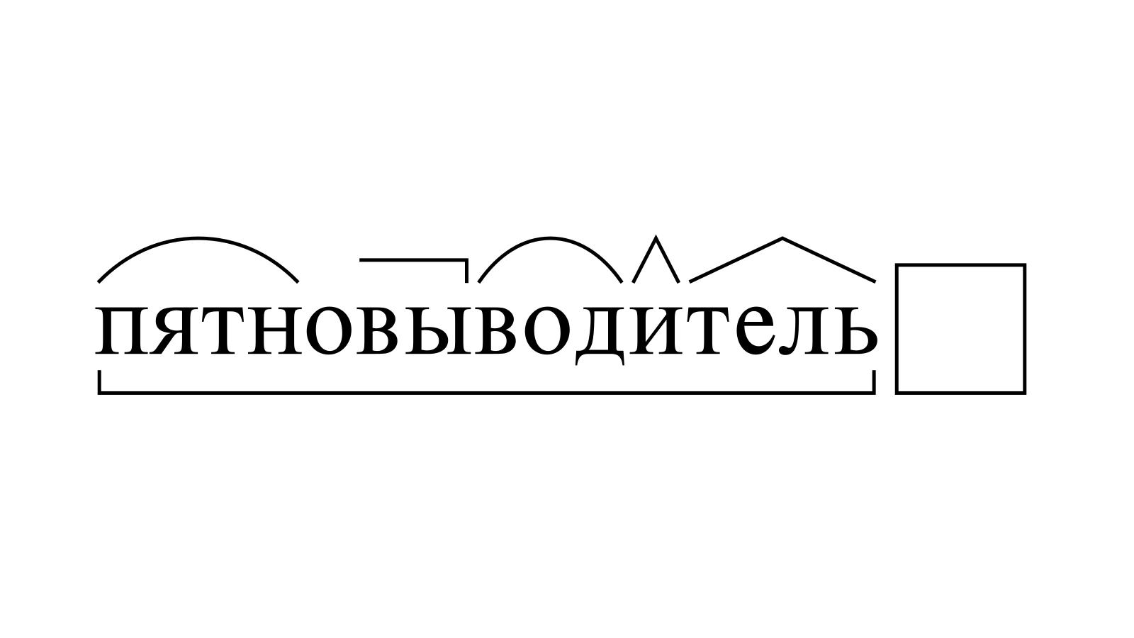 Разбор слова «пятновыводитель» по составу