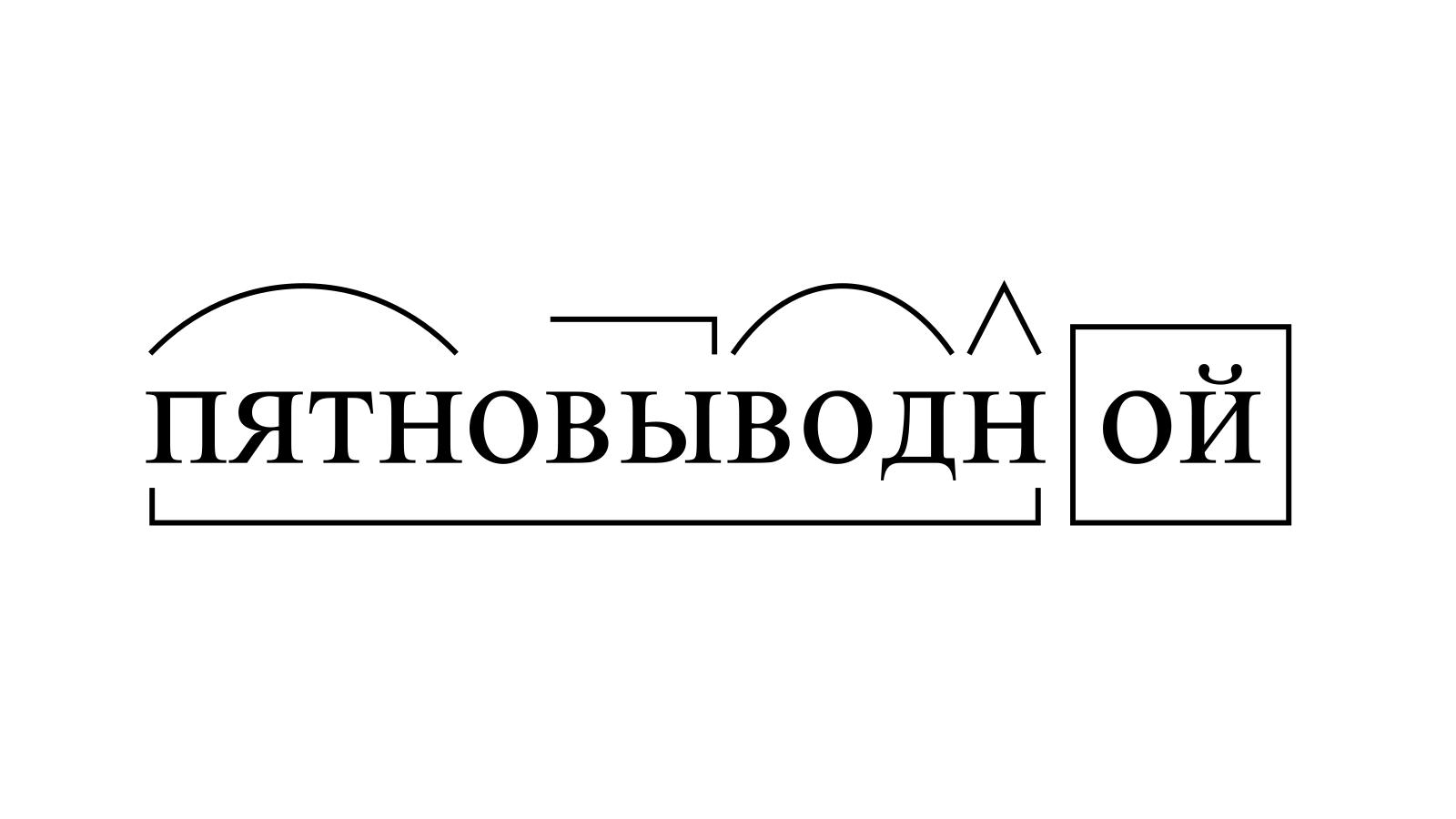 Разбор слова «пятновыводной» по составу