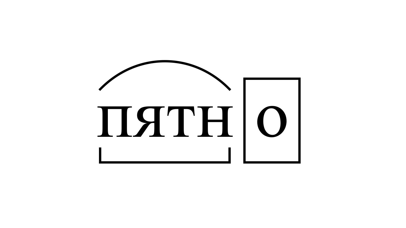 Разбор слова «пятно» по составу