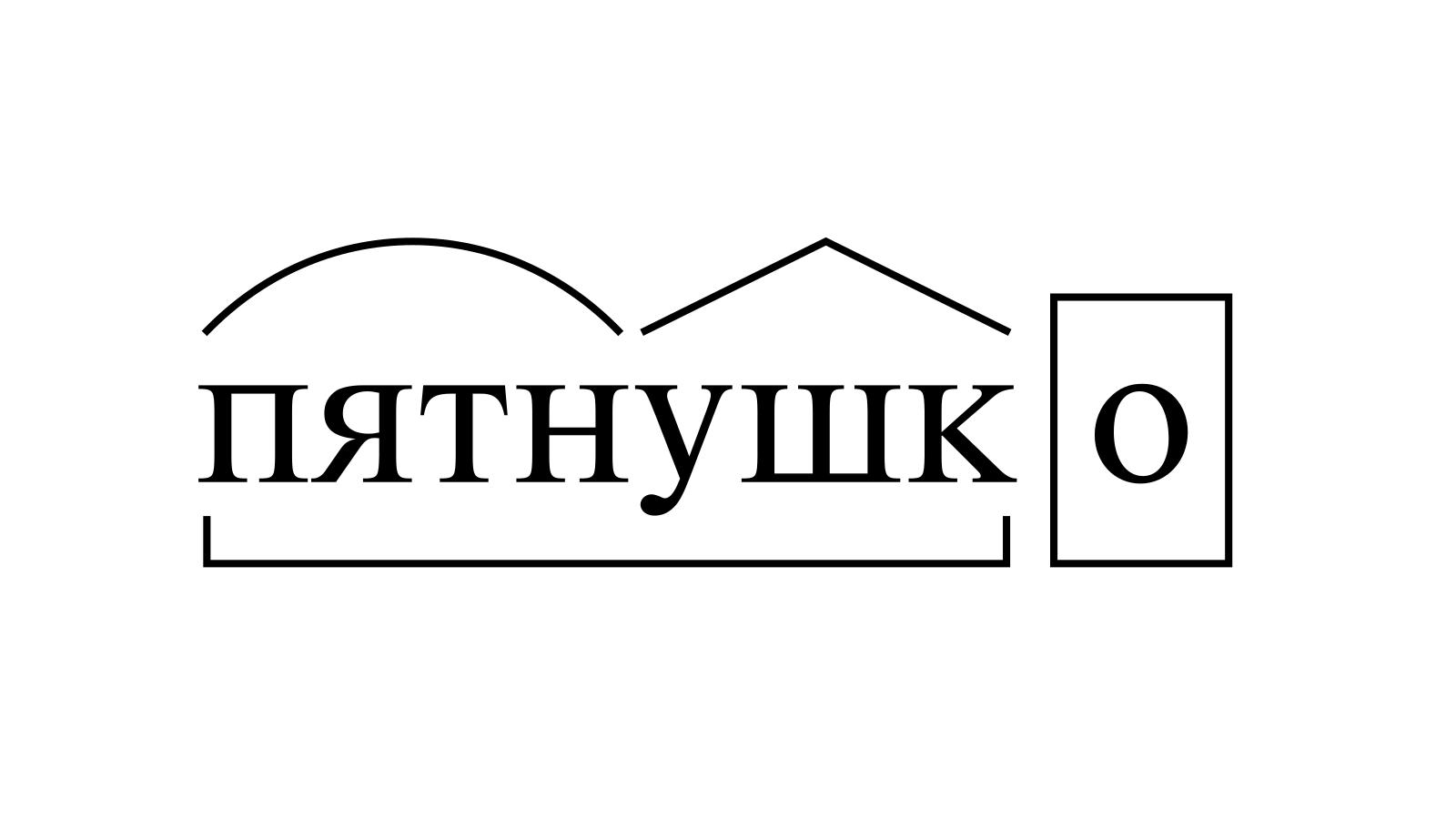 Разбор слова «пятнушко» по составу