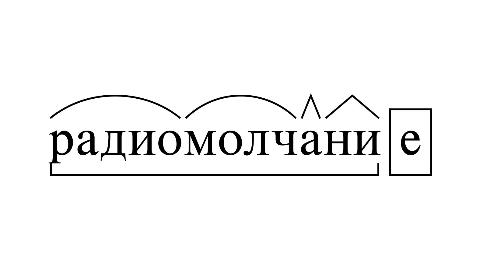 Разбор слова «радиомолчание» по составу
