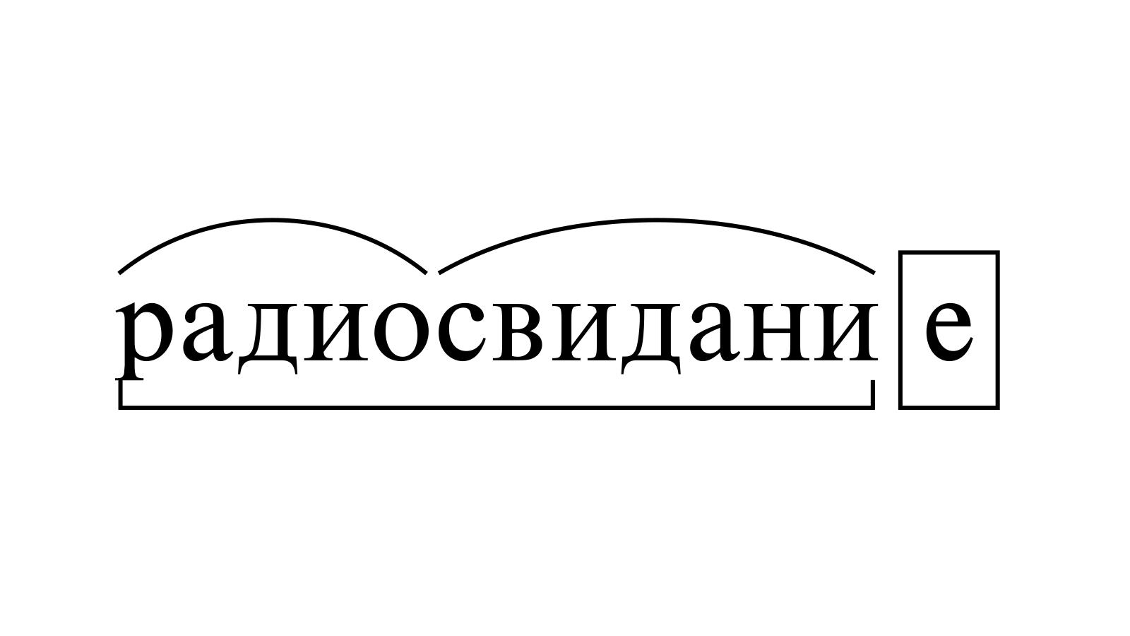 Разбор слова «радиосвидание» по составу