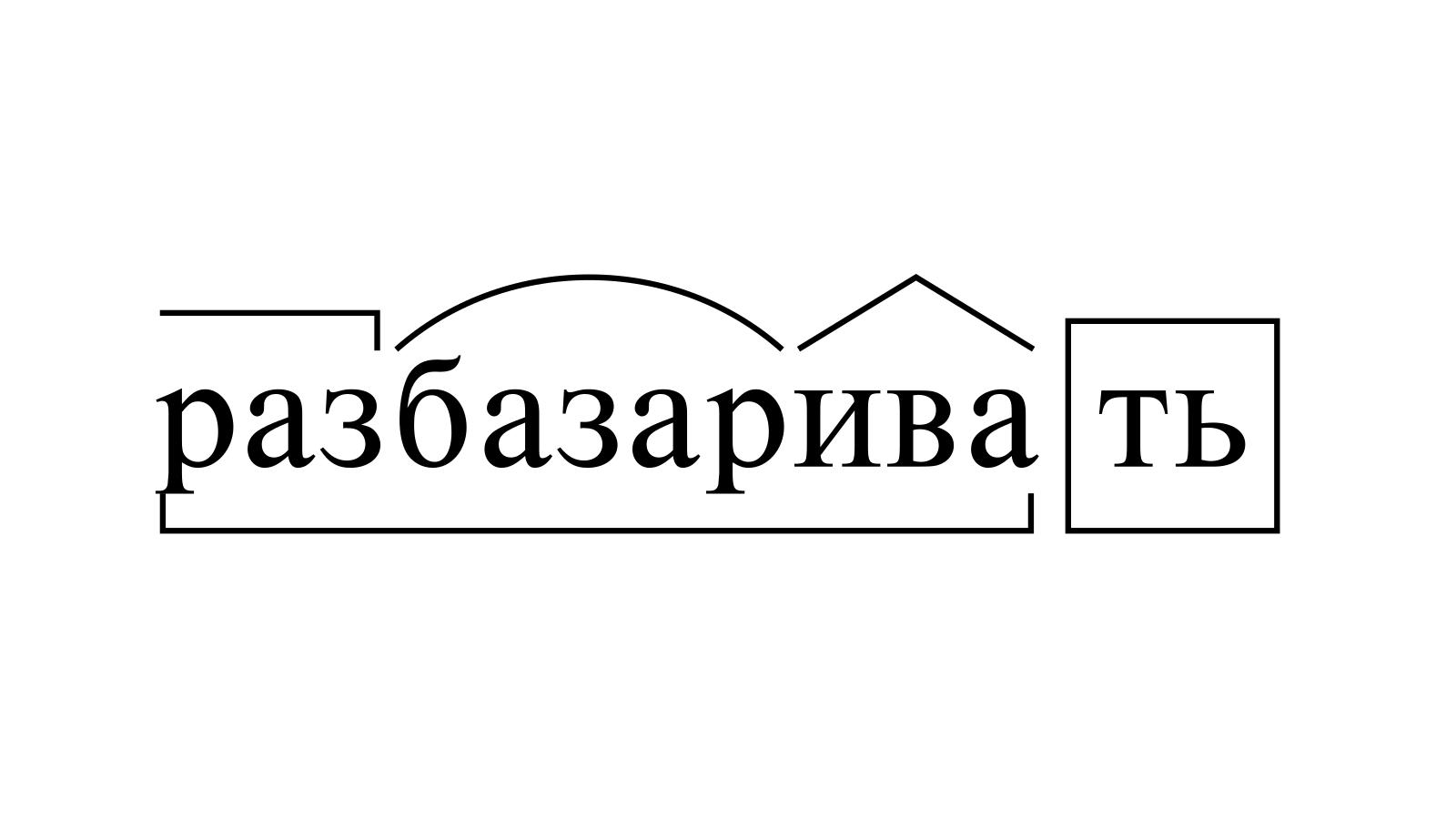 Разбор слова «разбазаривать» по составу