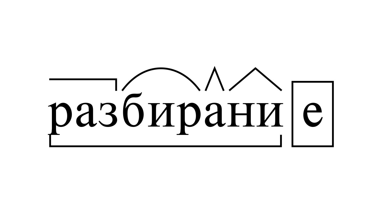 Разбор слова «разбирание» по составу