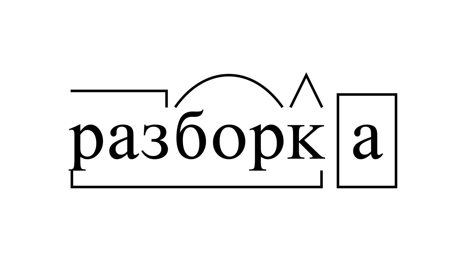 Разбор слова «разборка» по составу