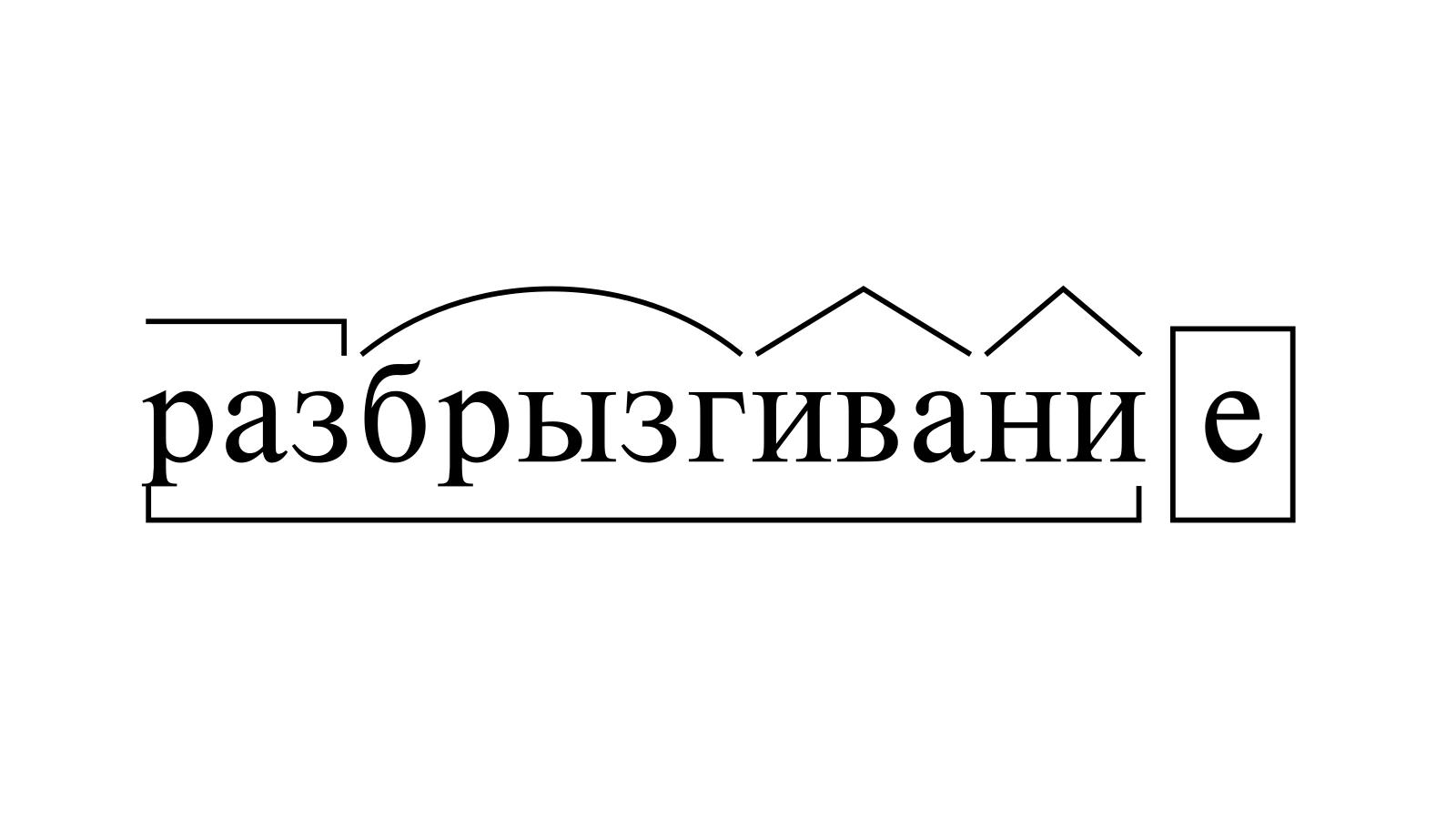 Разбор слова «разбрызгивание» по составу
