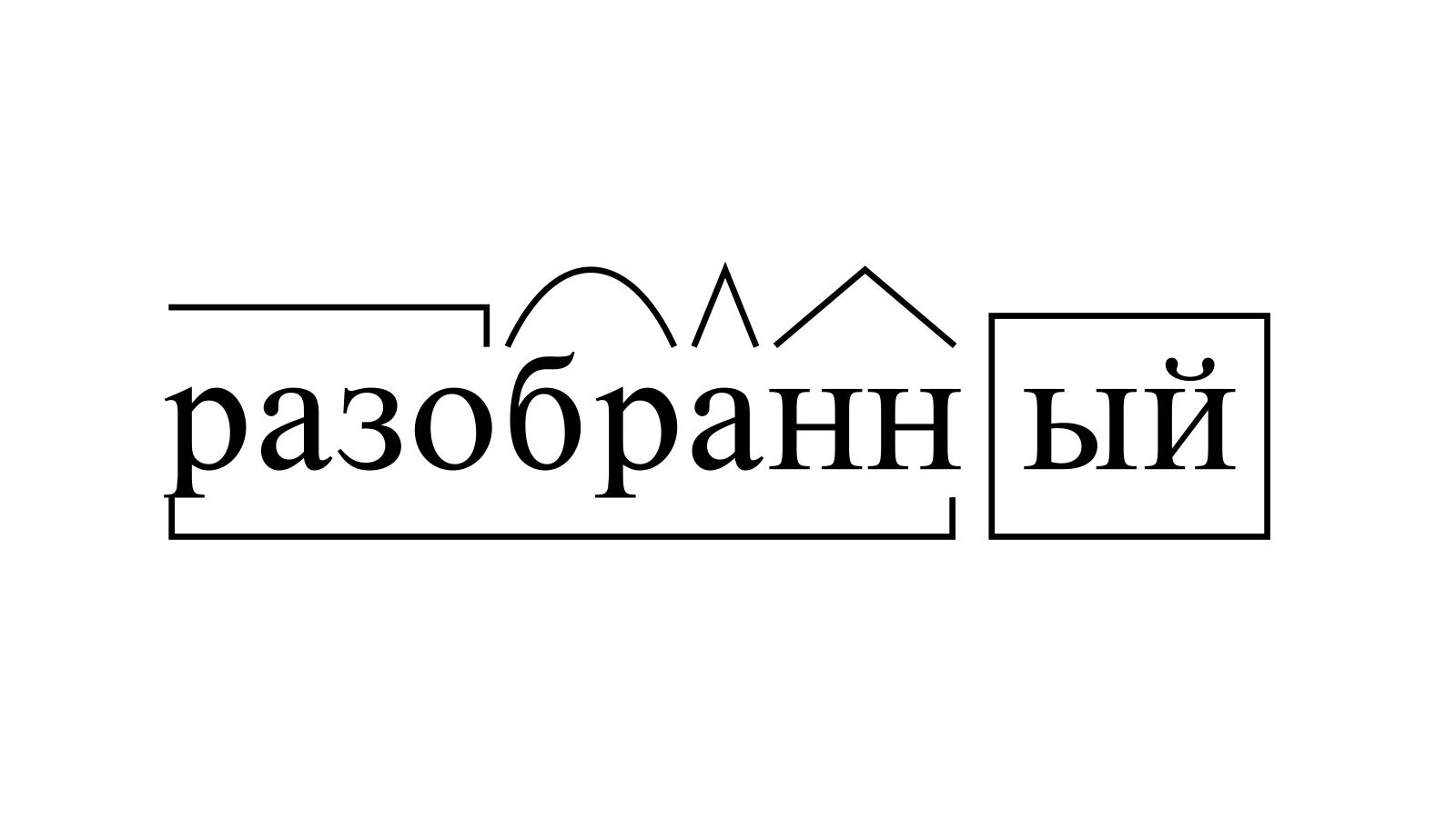 Разбор слова «разобранный» по составу