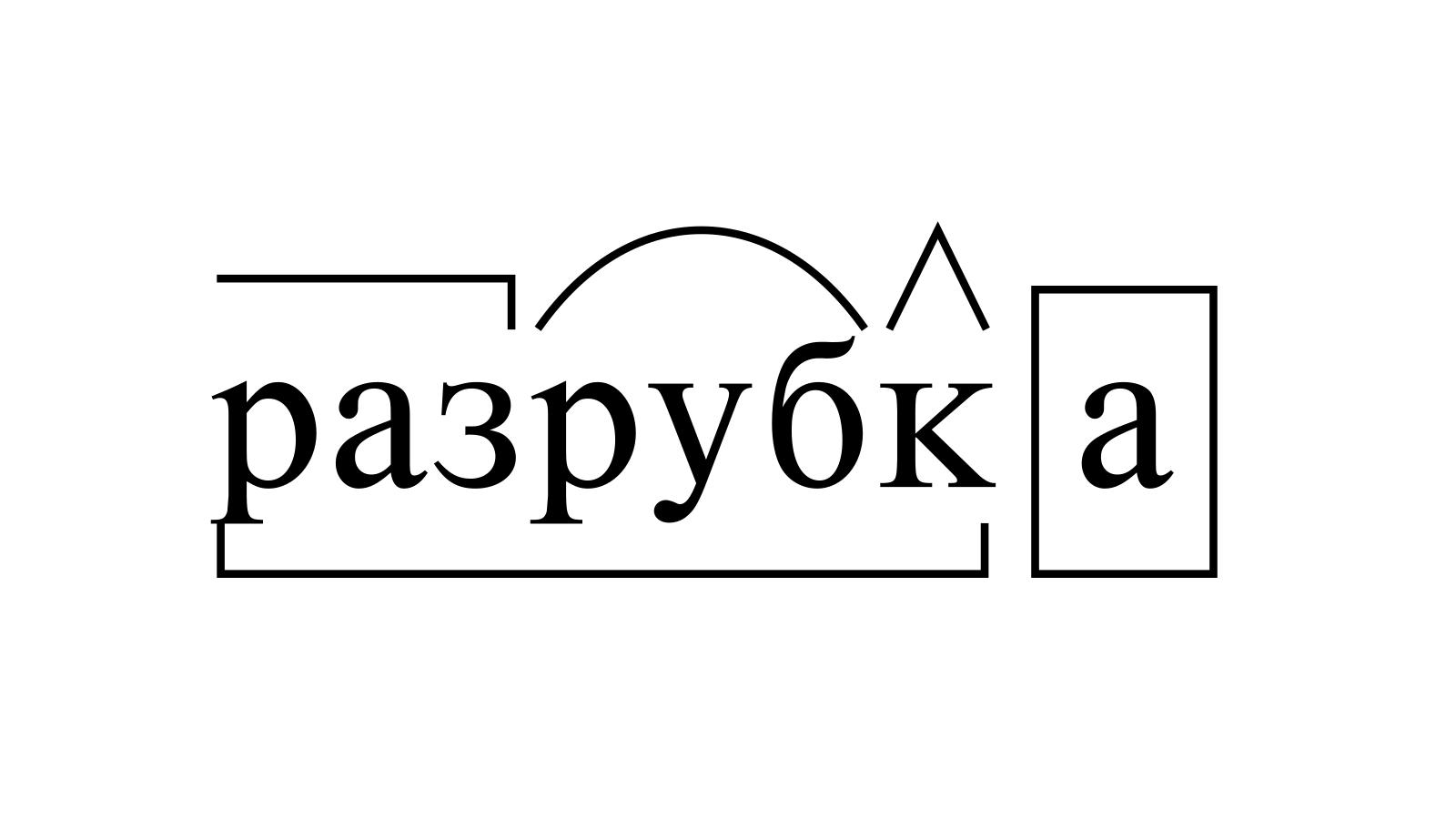 Разбор слова «разрубка» по составу