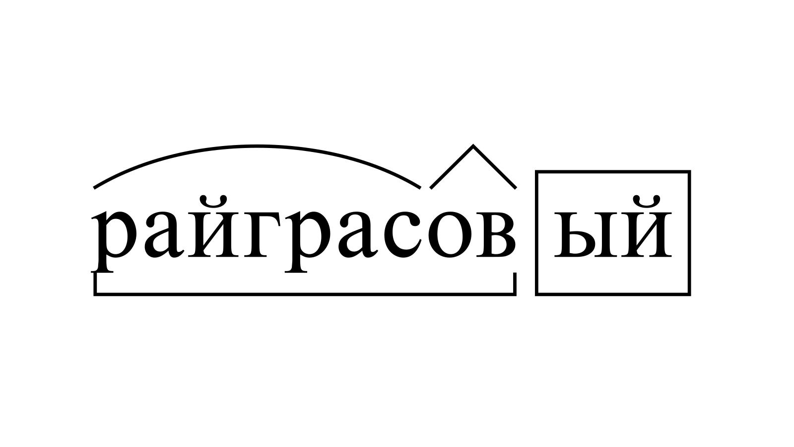 Разбор слова «райграсовый» по составу