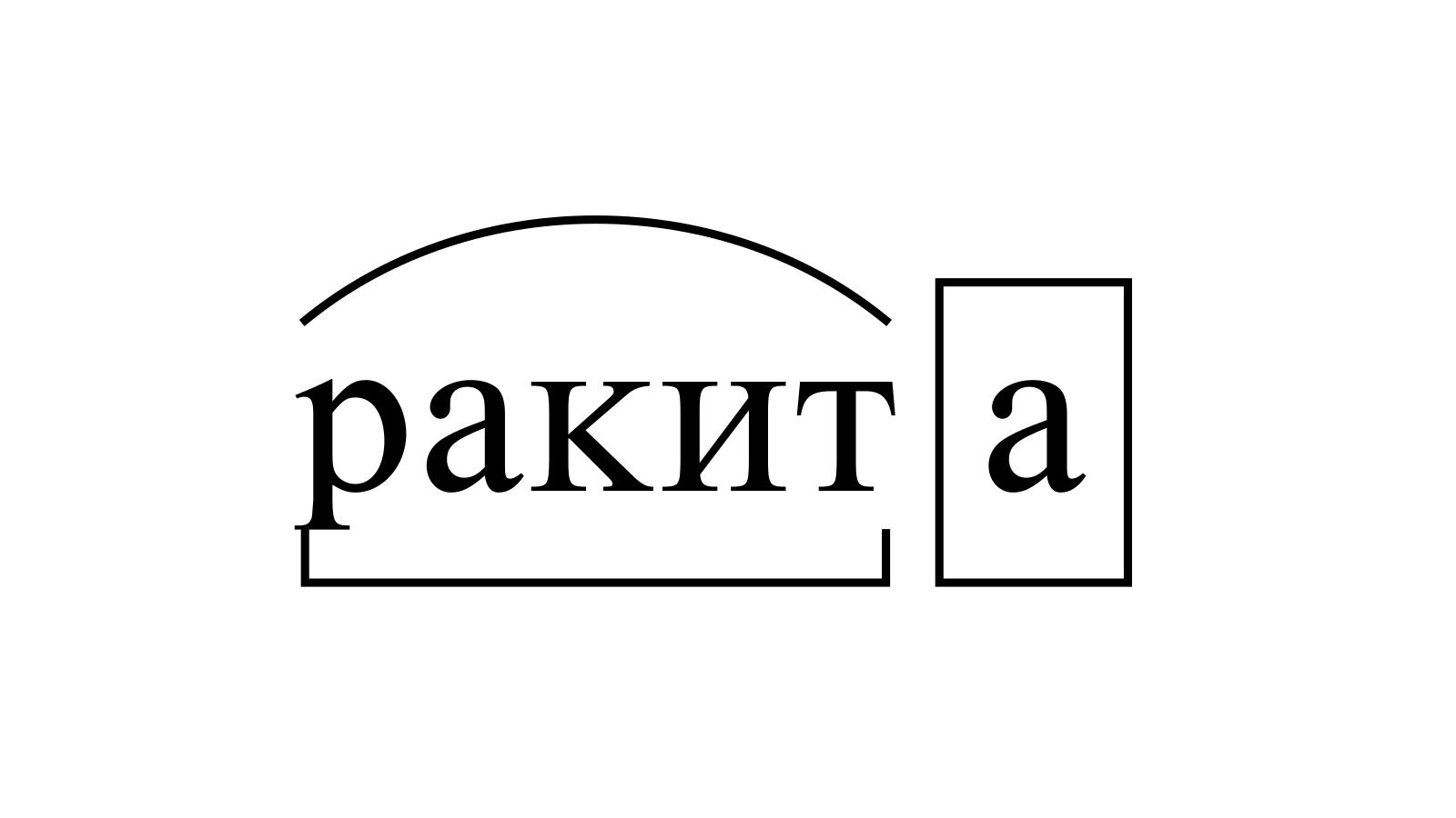 Разбор слова «ракита» по составу