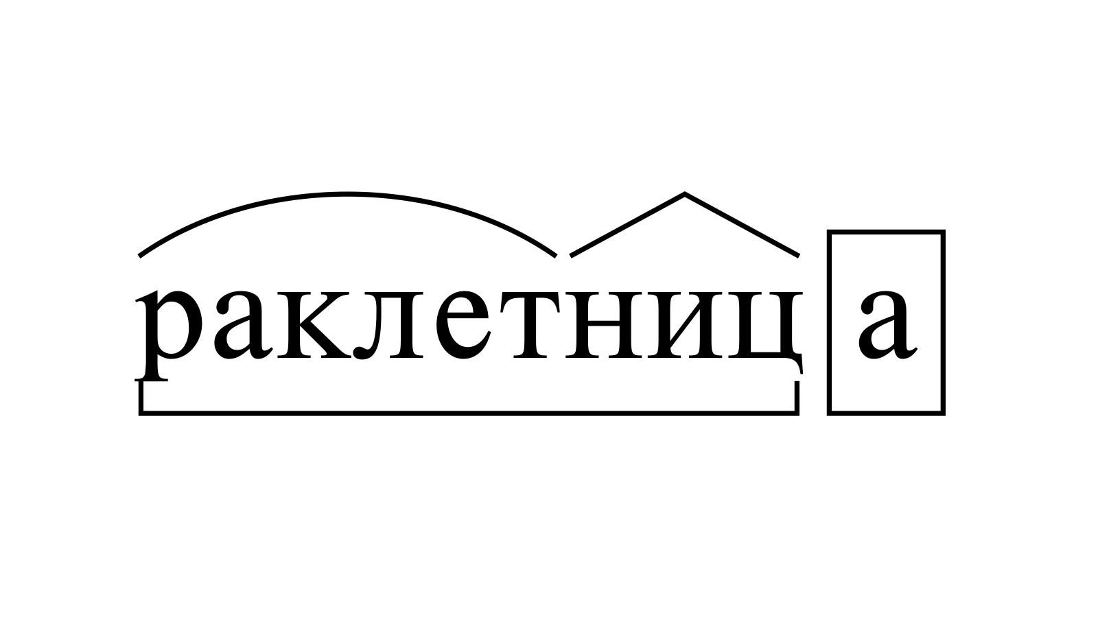 Разбор слова «раклетница» по составу
