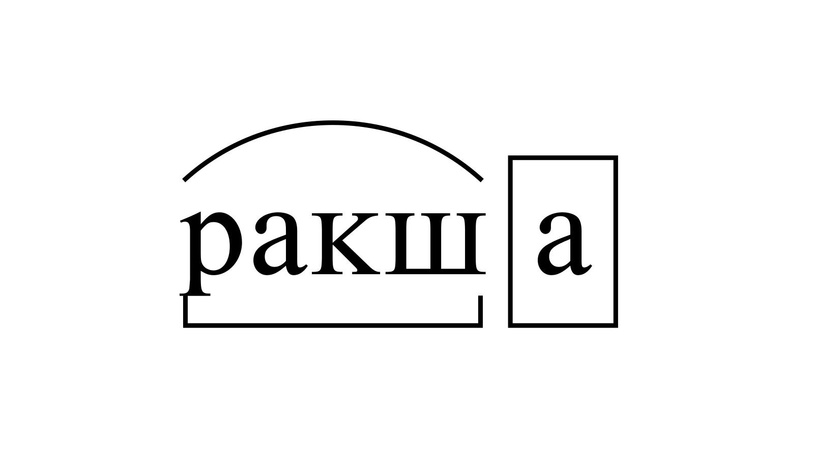 Разбор слова «ракша» по составу