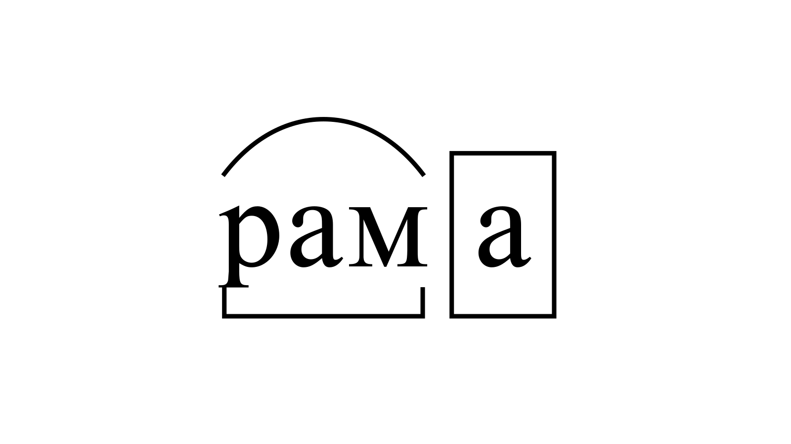 Разбор слова «рама» по составу