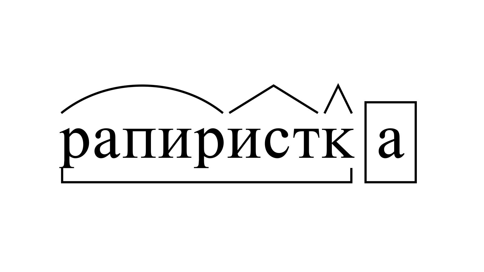 Разбор слова «рапиристка» по составу