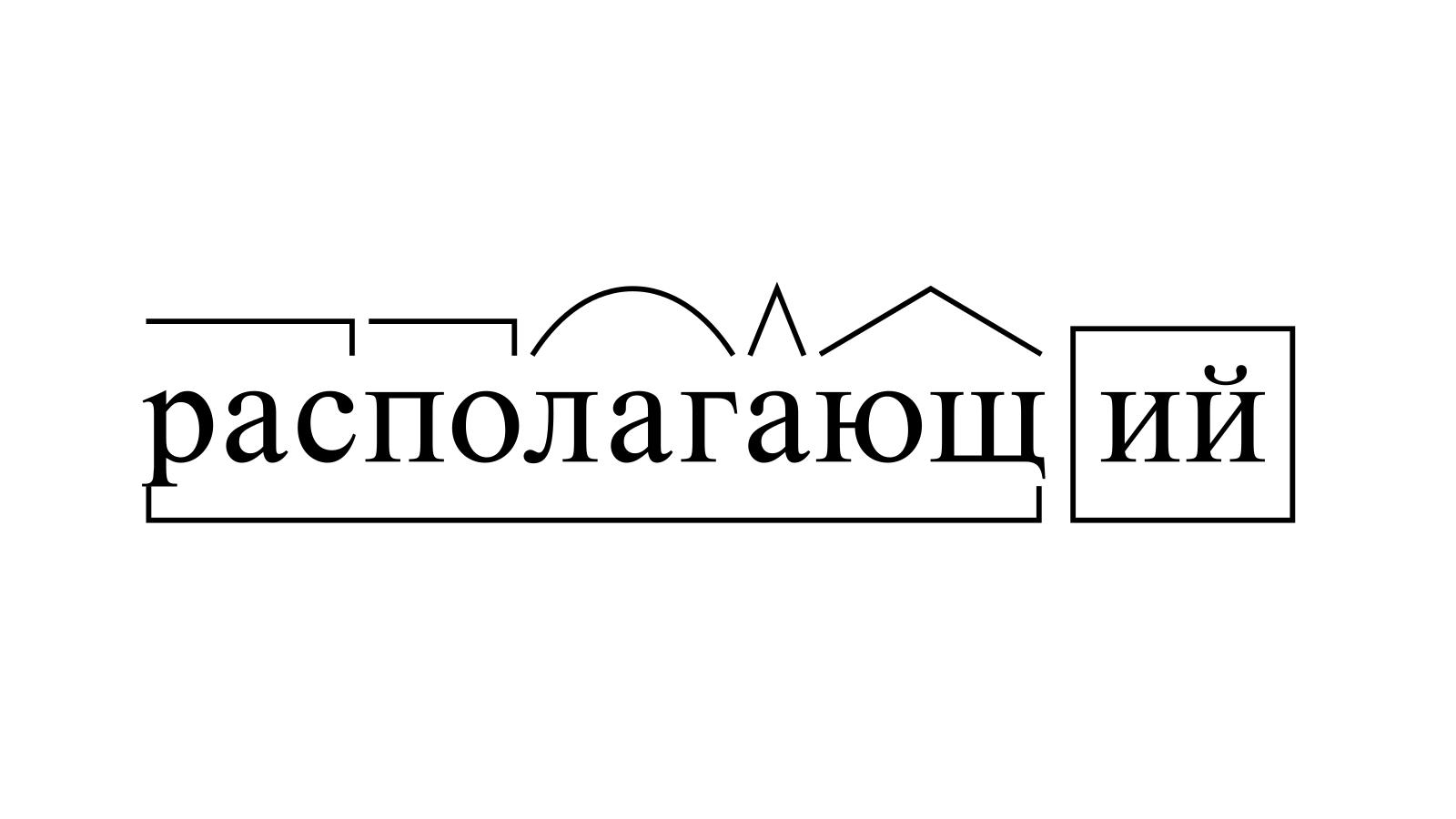 Разбор слова «располагающий» по составу