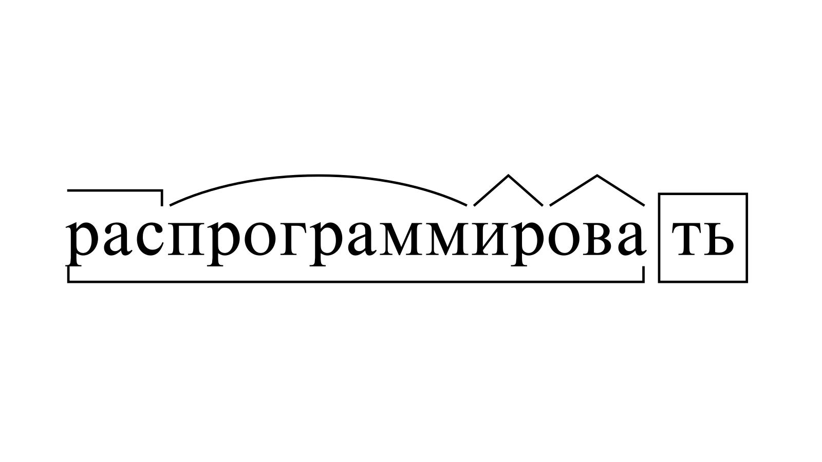 Разбор слова «распрограммировать» по составу