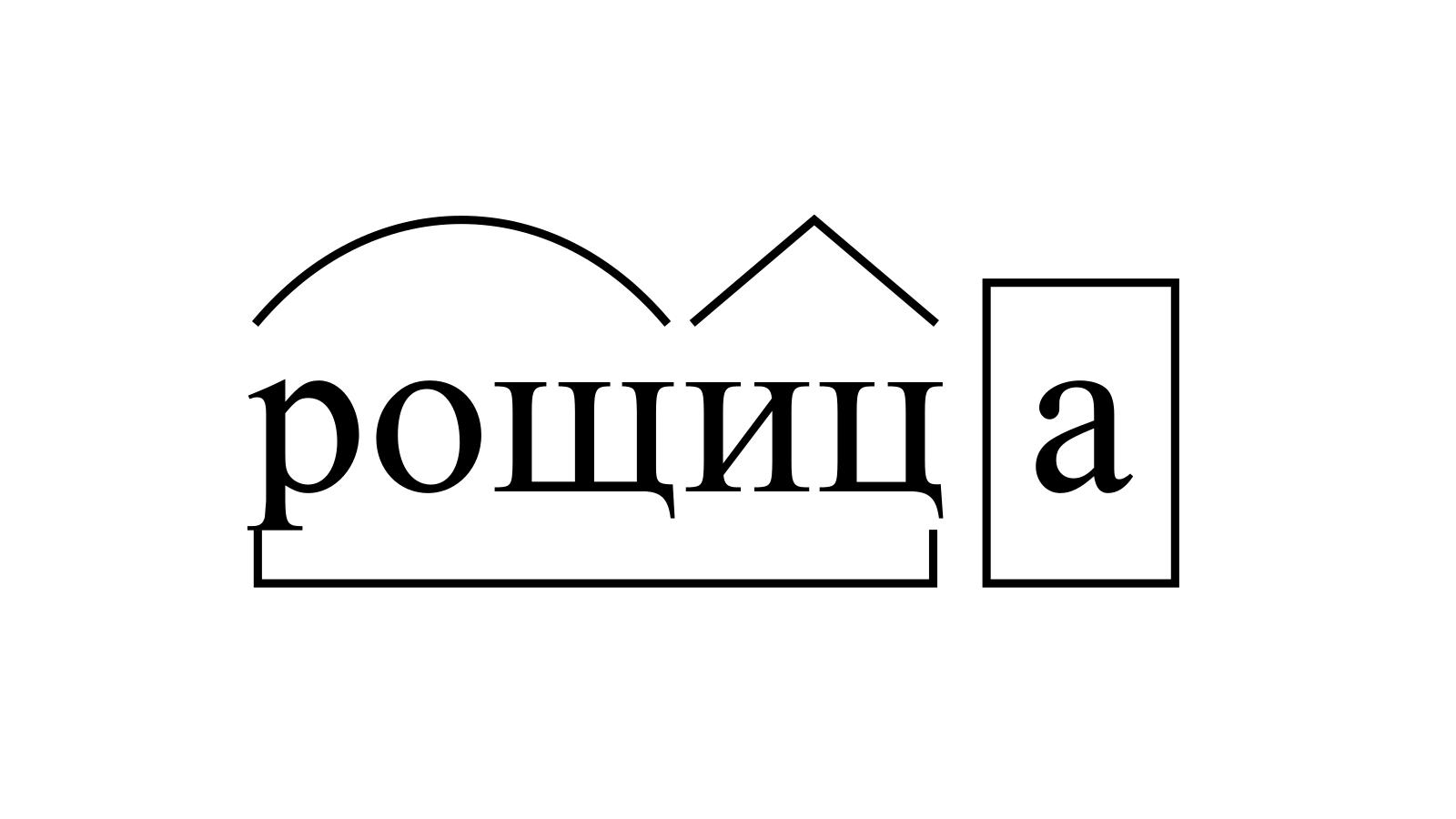 Разбор слова «рощица» по составу