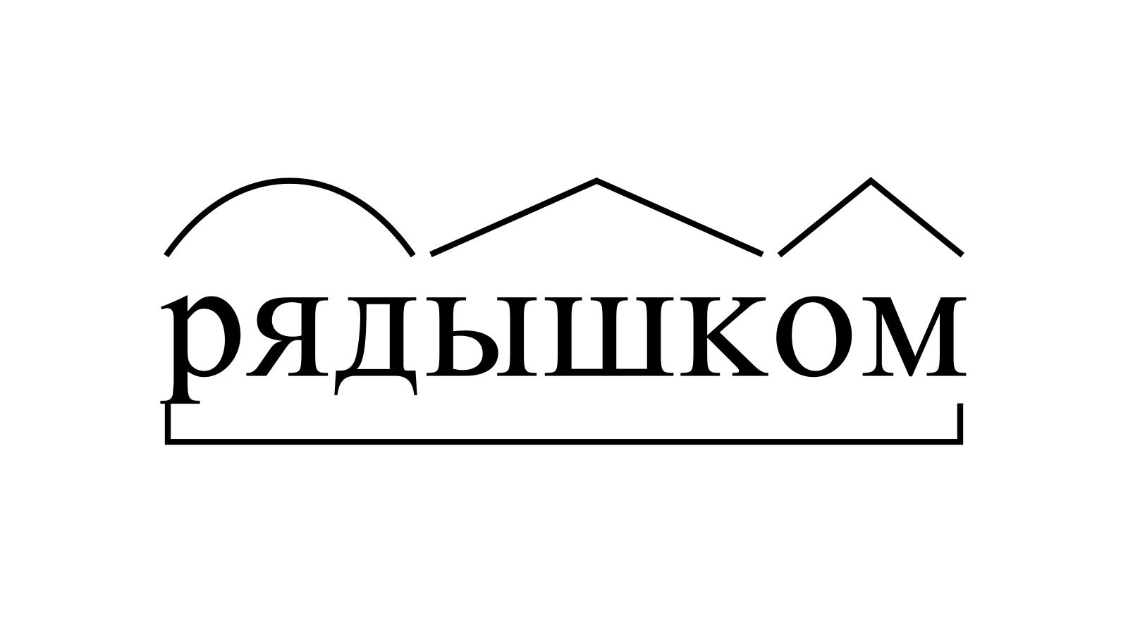 Разбор слова «рядышком» по составу