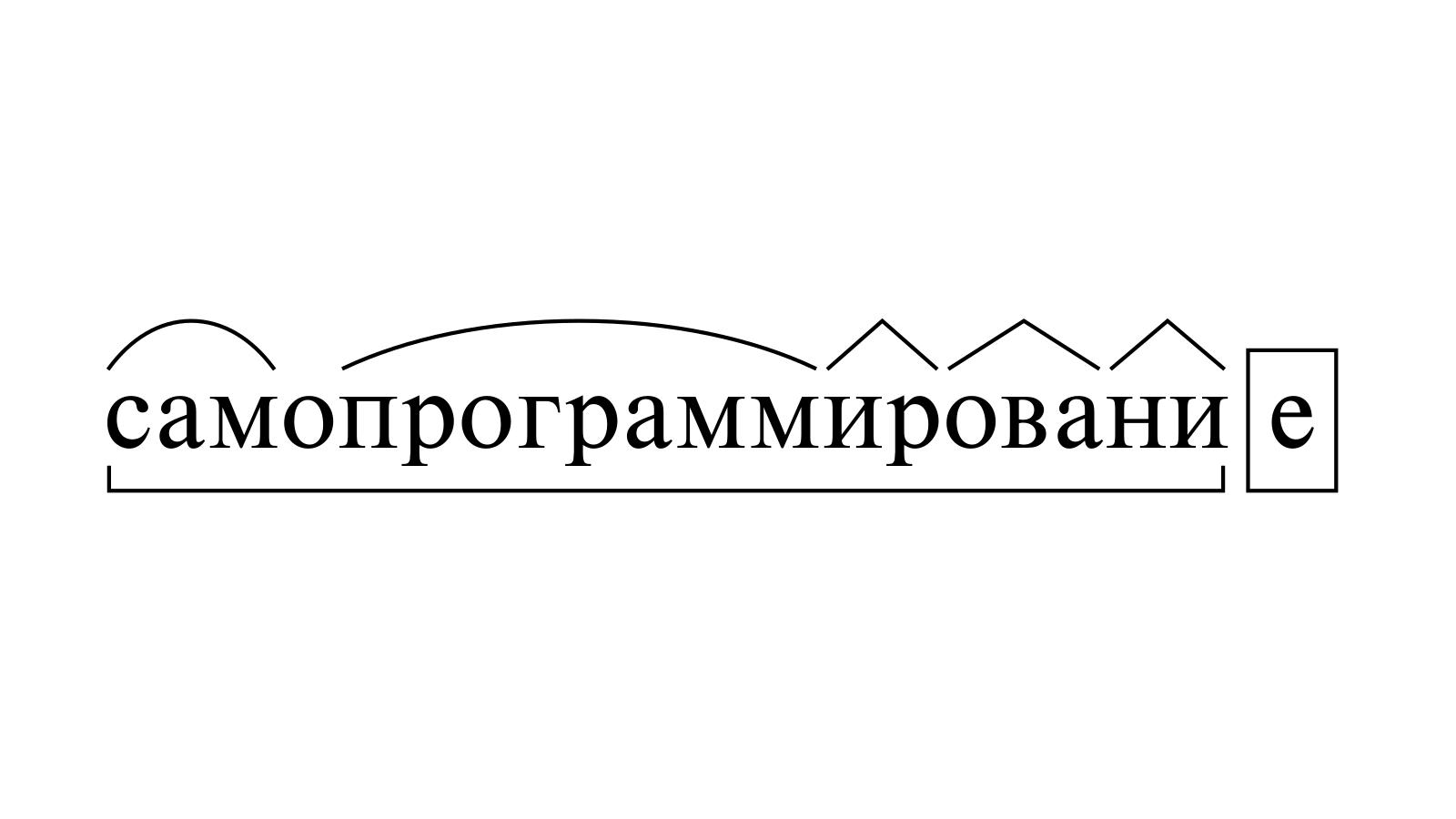 Разбор слова «самопрограммирование» по составу