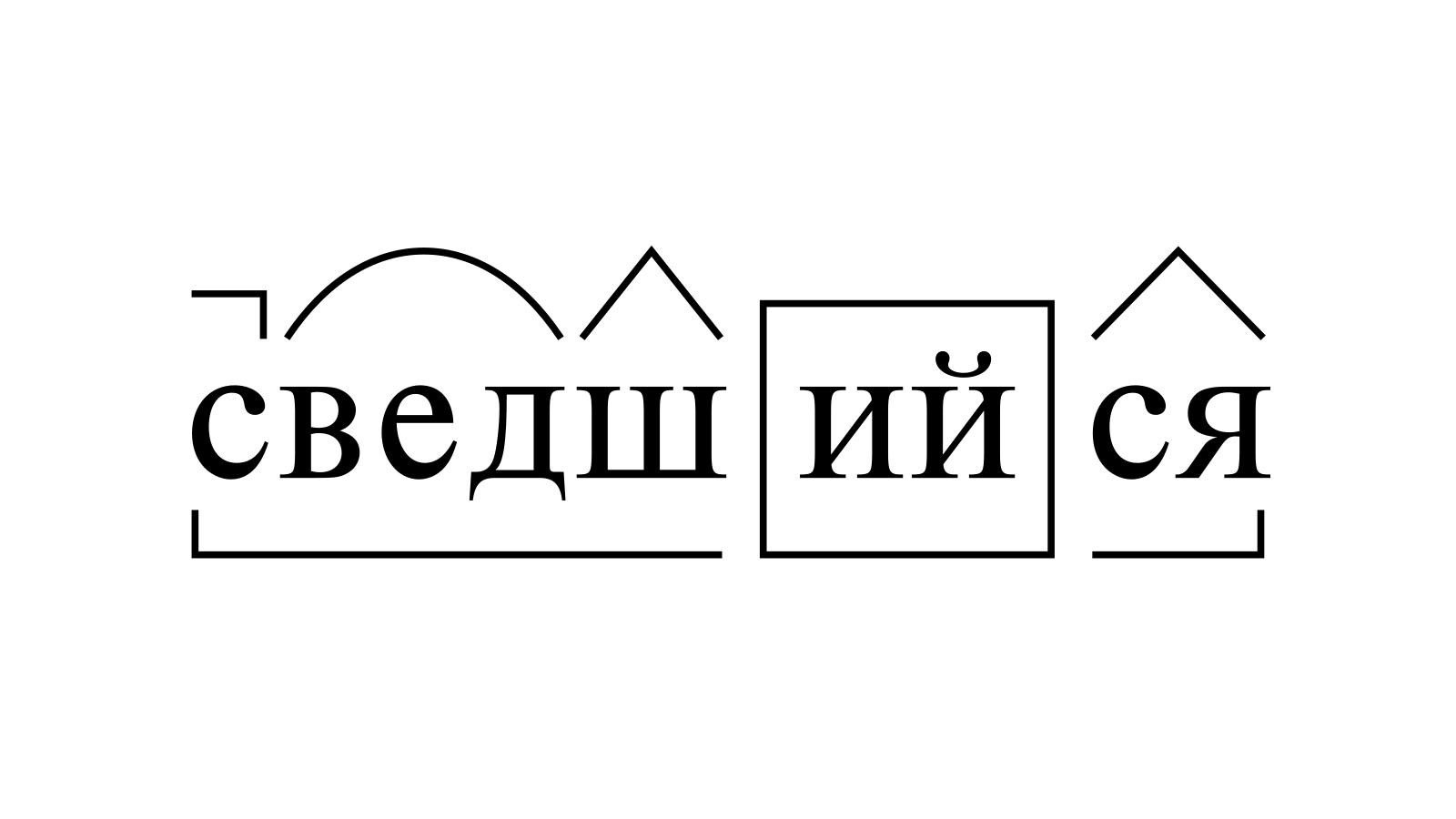 Разбор слова «сведшийся» по составу
