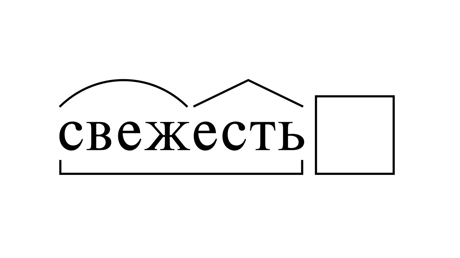Разбор слова «свежесть» по составу