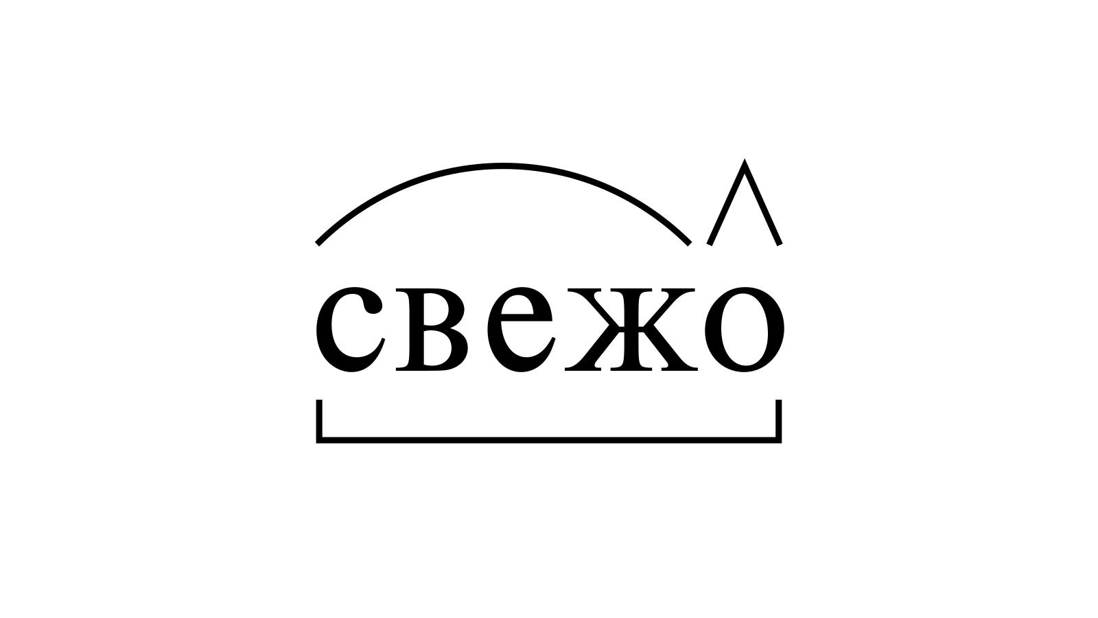 Разбор слова «свежо» по составу