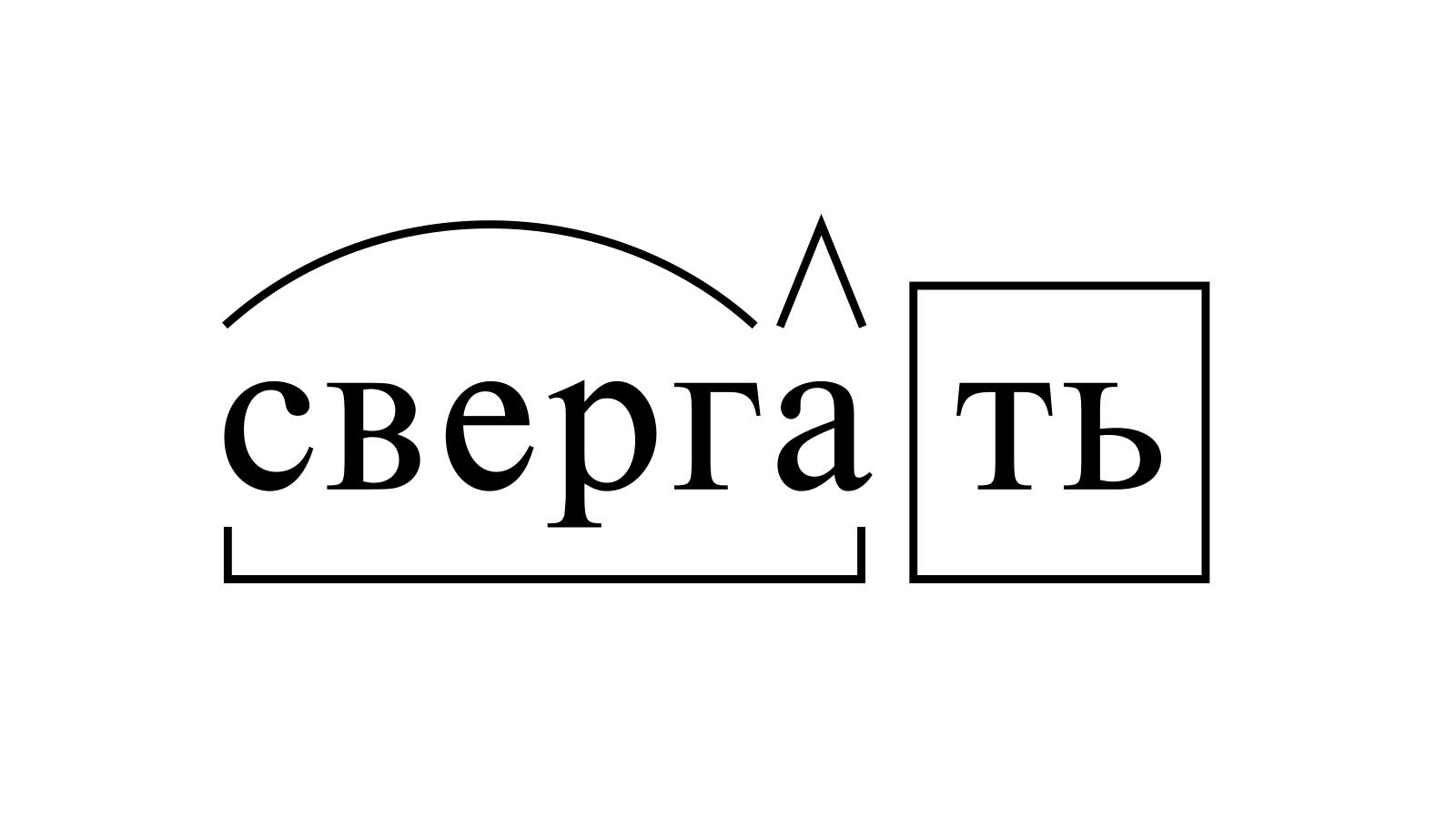 Разбор слова «свергать» по составу