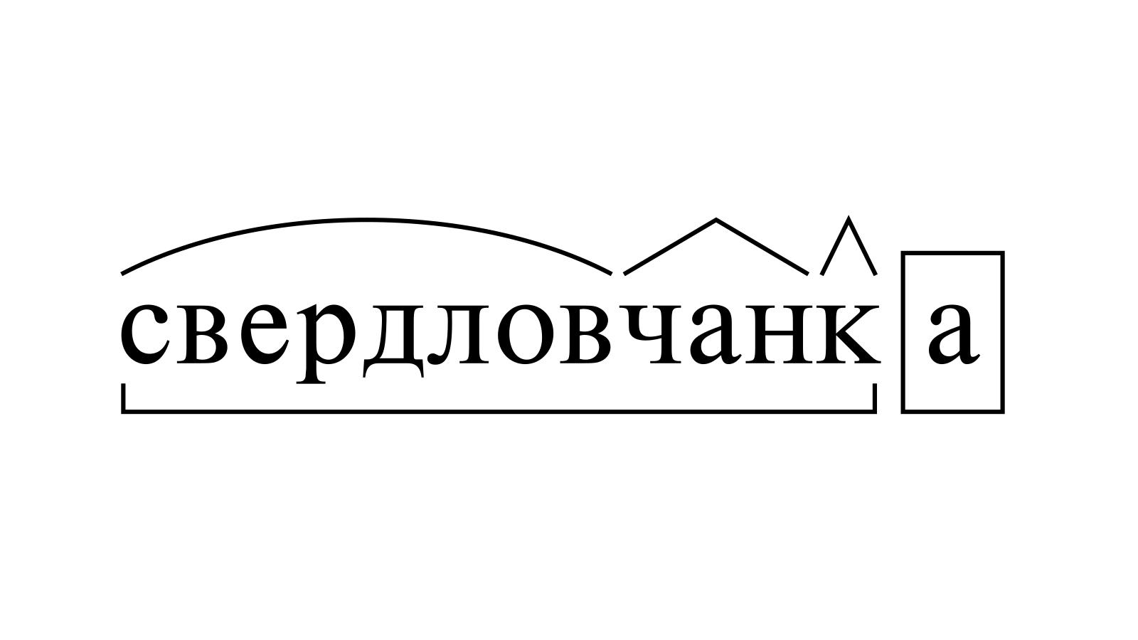 Разбор слова «свердловчанка» по составу