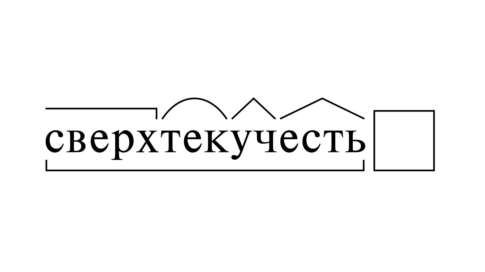 Разбор слова «сверхтекучесть» по составу