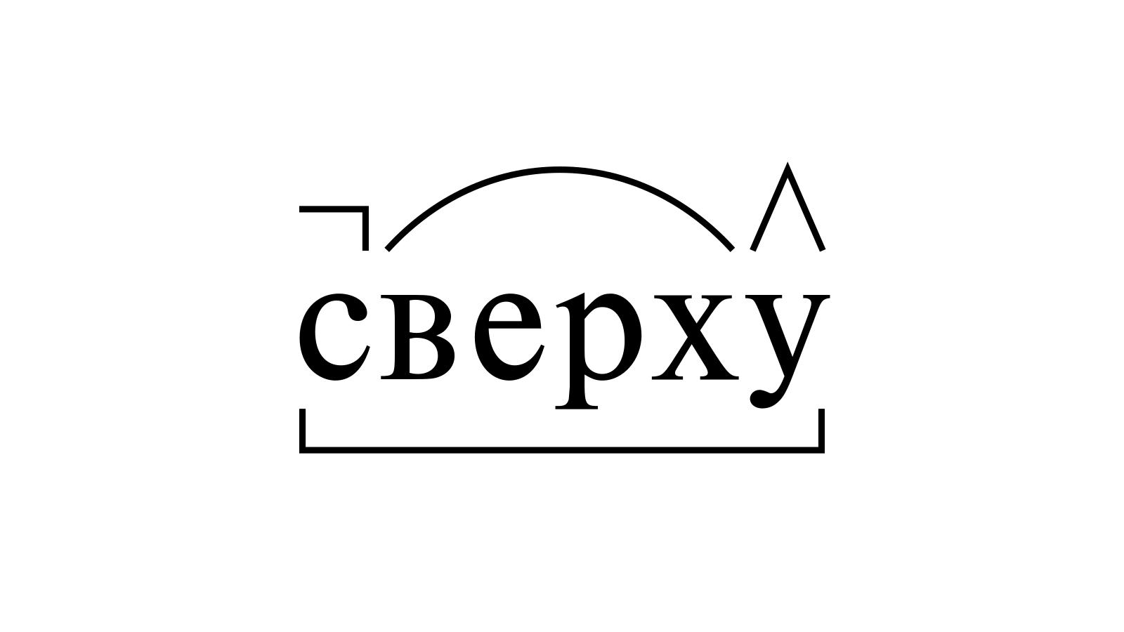 Разбор слова «сверху» по составу