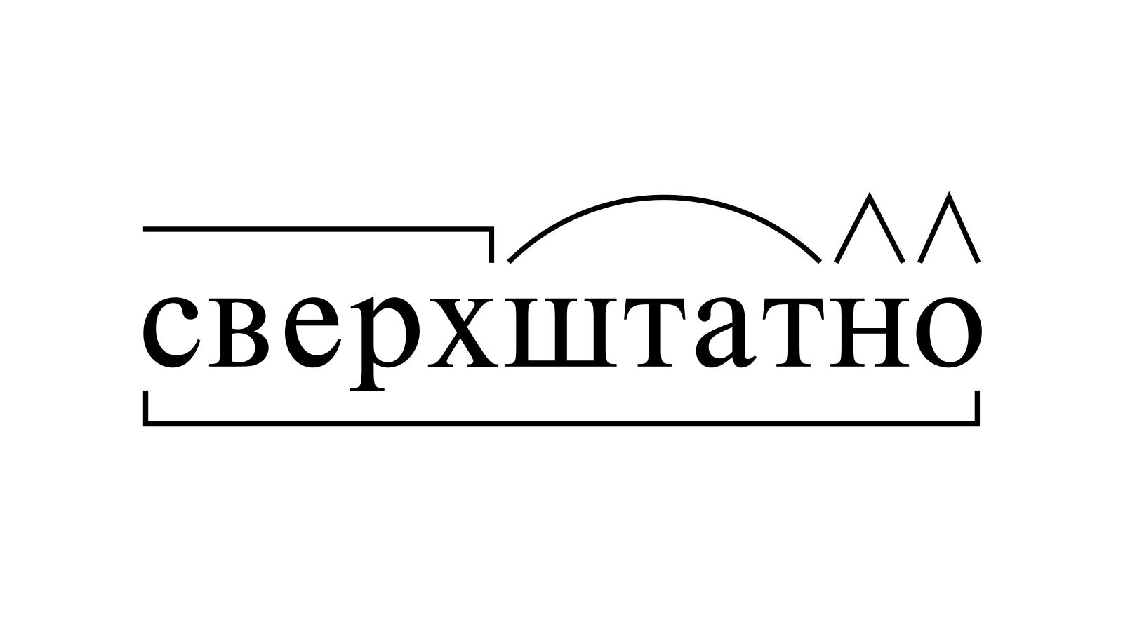Разбор слова «сверхштатно» по составу