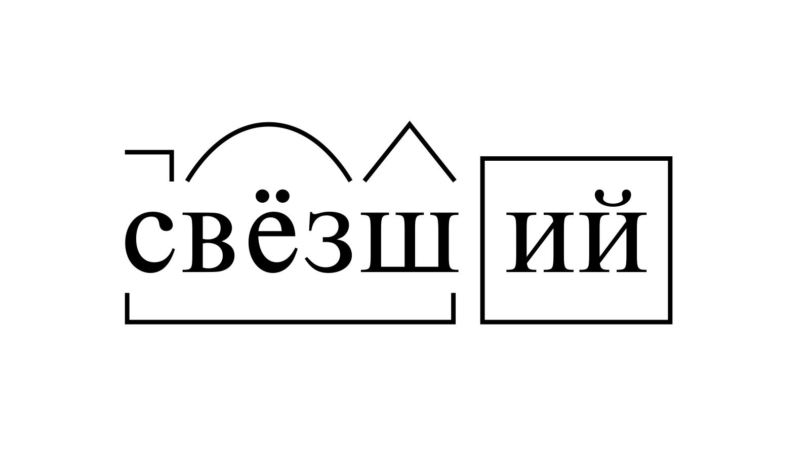Разбор слова «свёзший» по составу