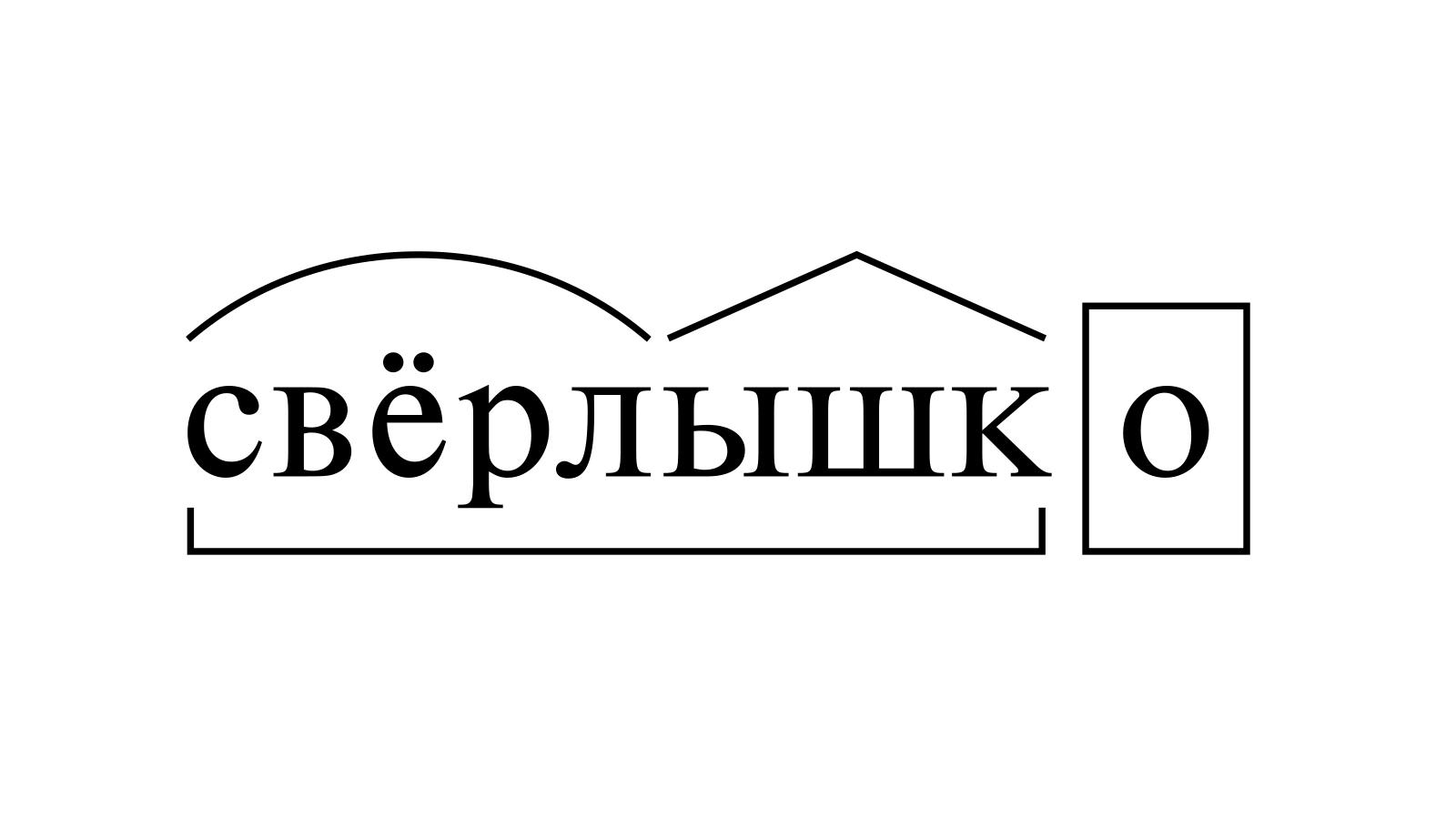 Разбор слова «свёрлышко» по составу