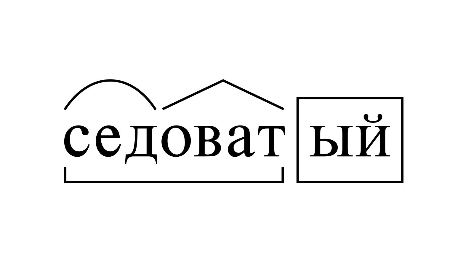 Разбор слова «седоватый» по составу
