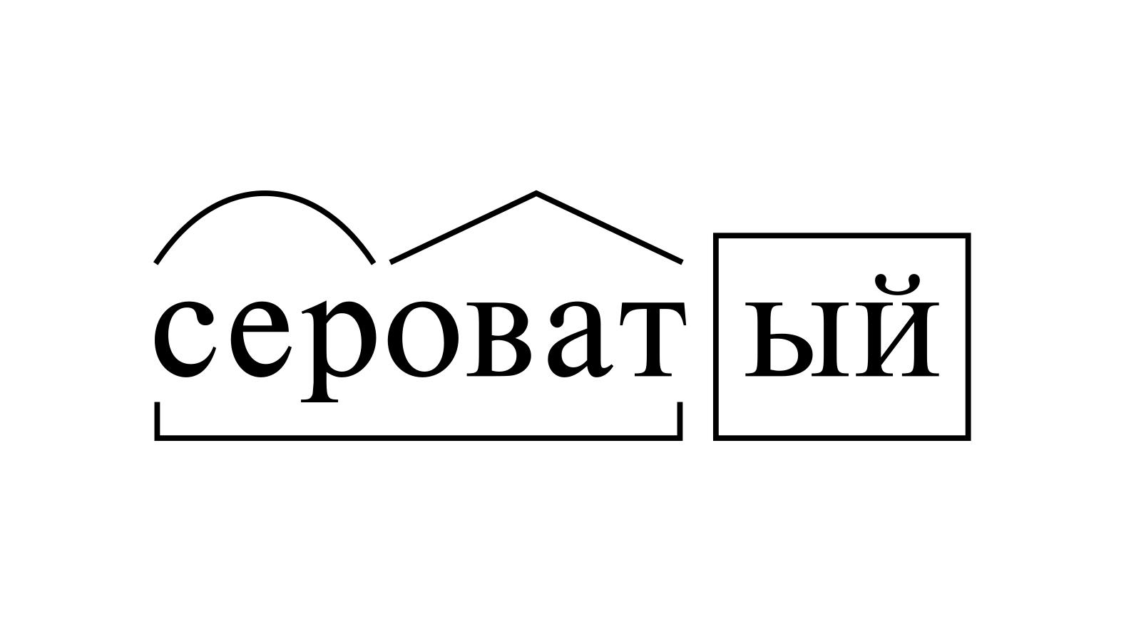 Разбор слова «сероватый» по составу