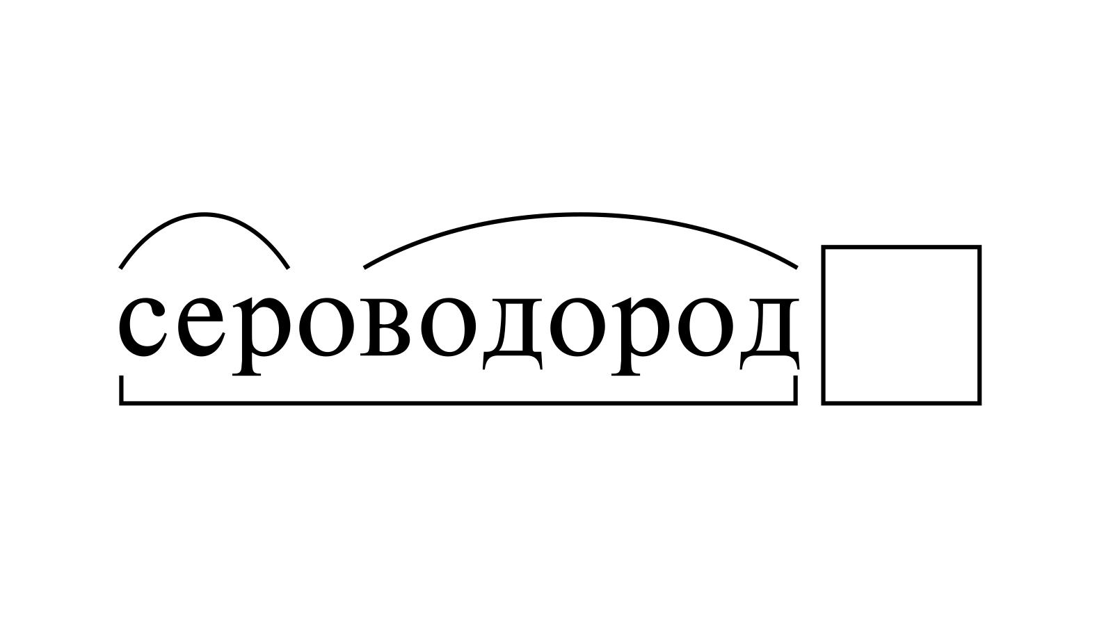 Разбор слова «сероводород» по составу
