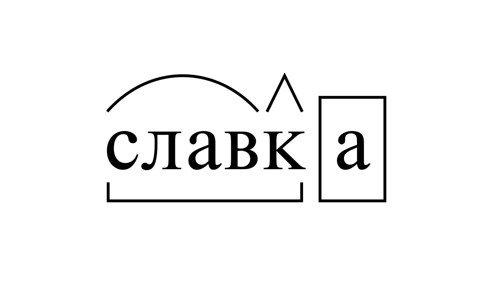Разбор слова «славка» по составу