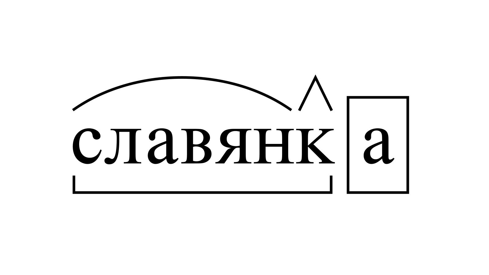 Разбор слова «славянка» по составу