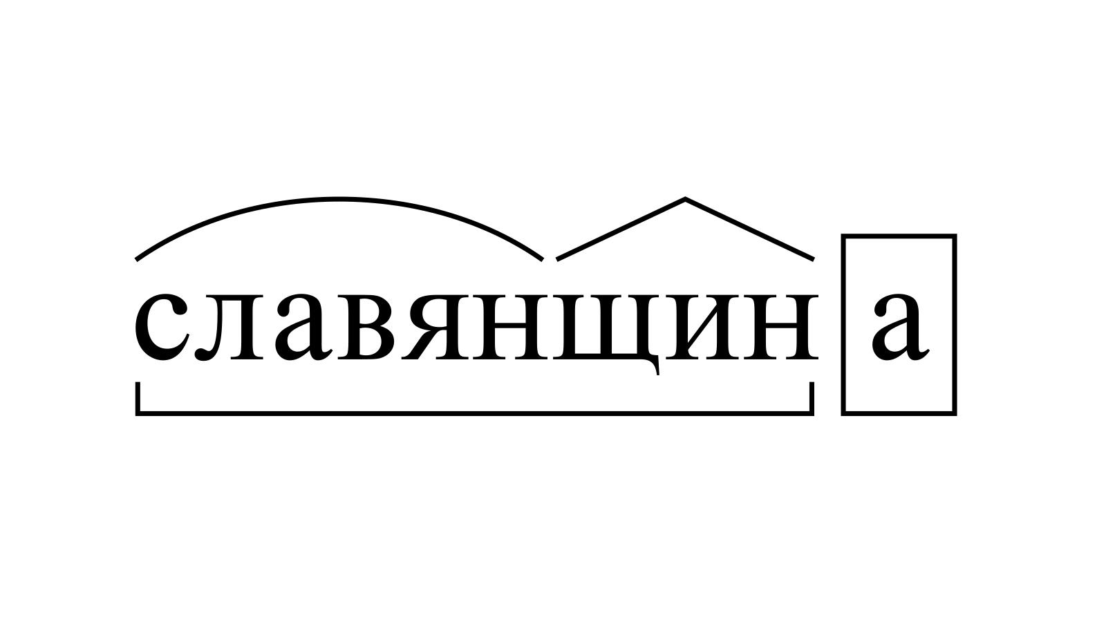 Разбор слова «славянщина» по составу