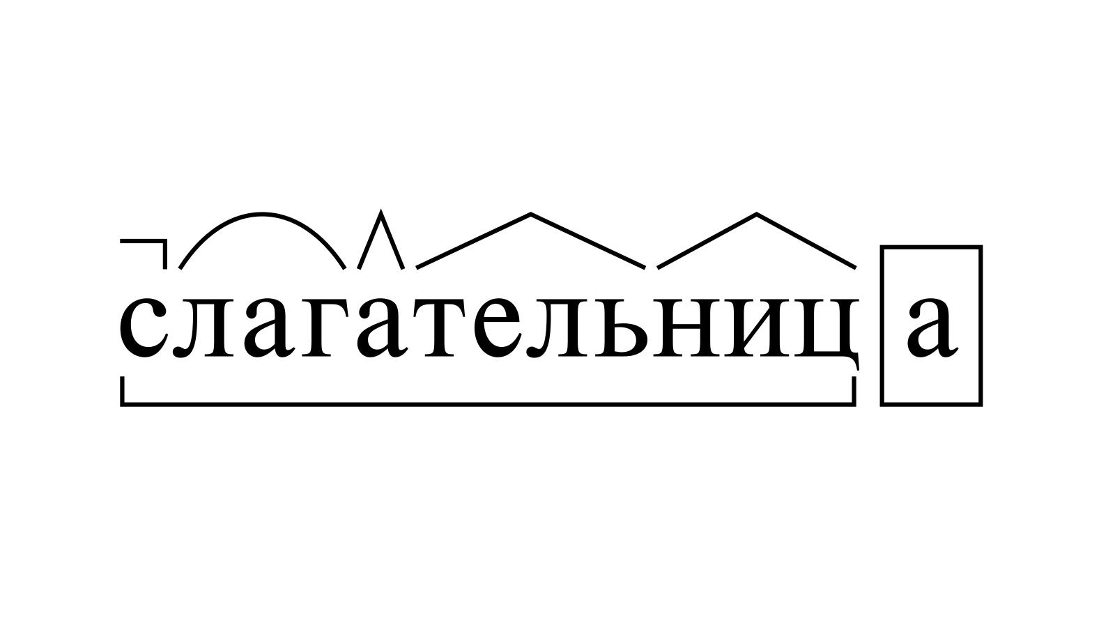 Разбор слова «слагательница» по составу