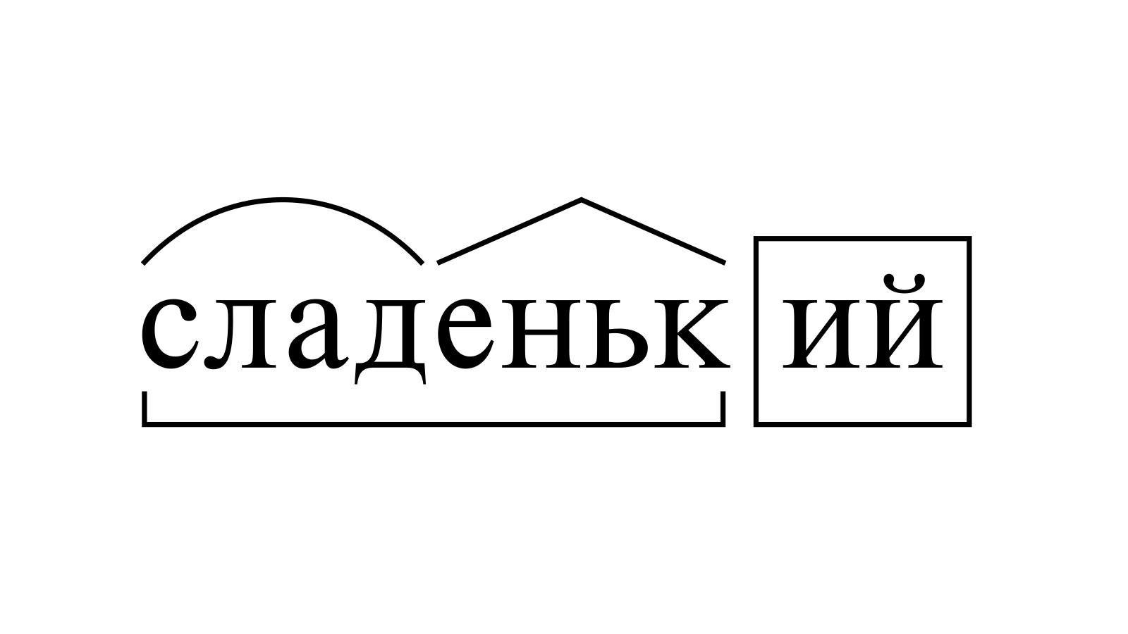 Разбор слова «сладенький» по составу
