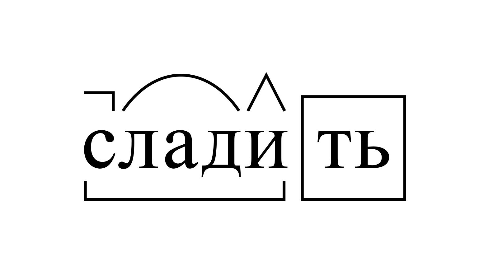 Разбор слова «сладить» по составу