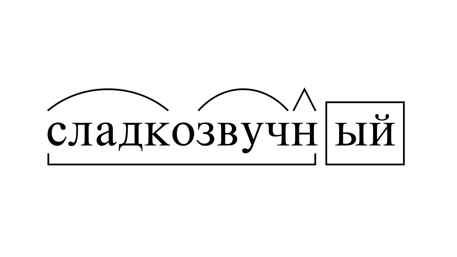 Разбор слова «сладкозвучный» по составу
