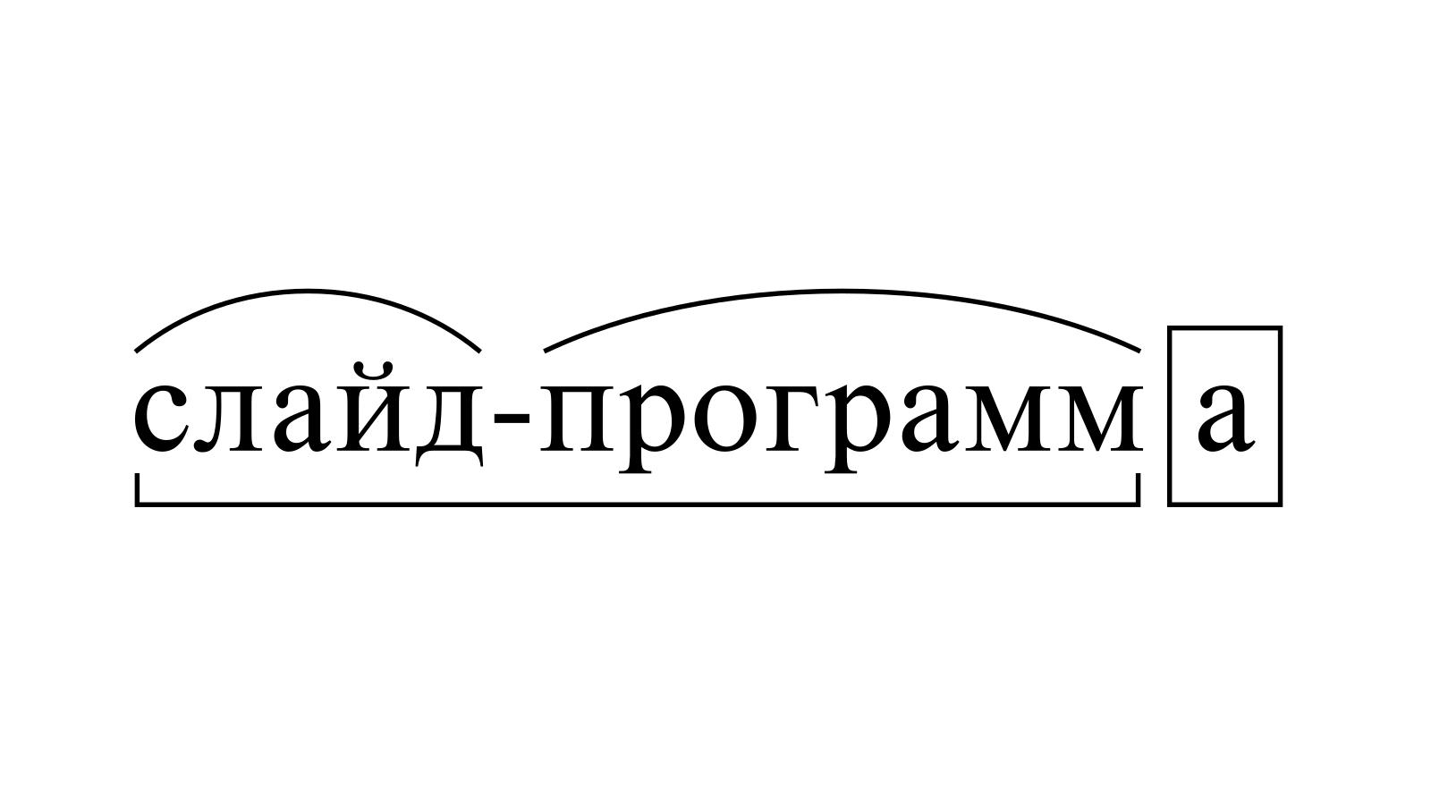 Разбор слова «слайд-программа» по составу