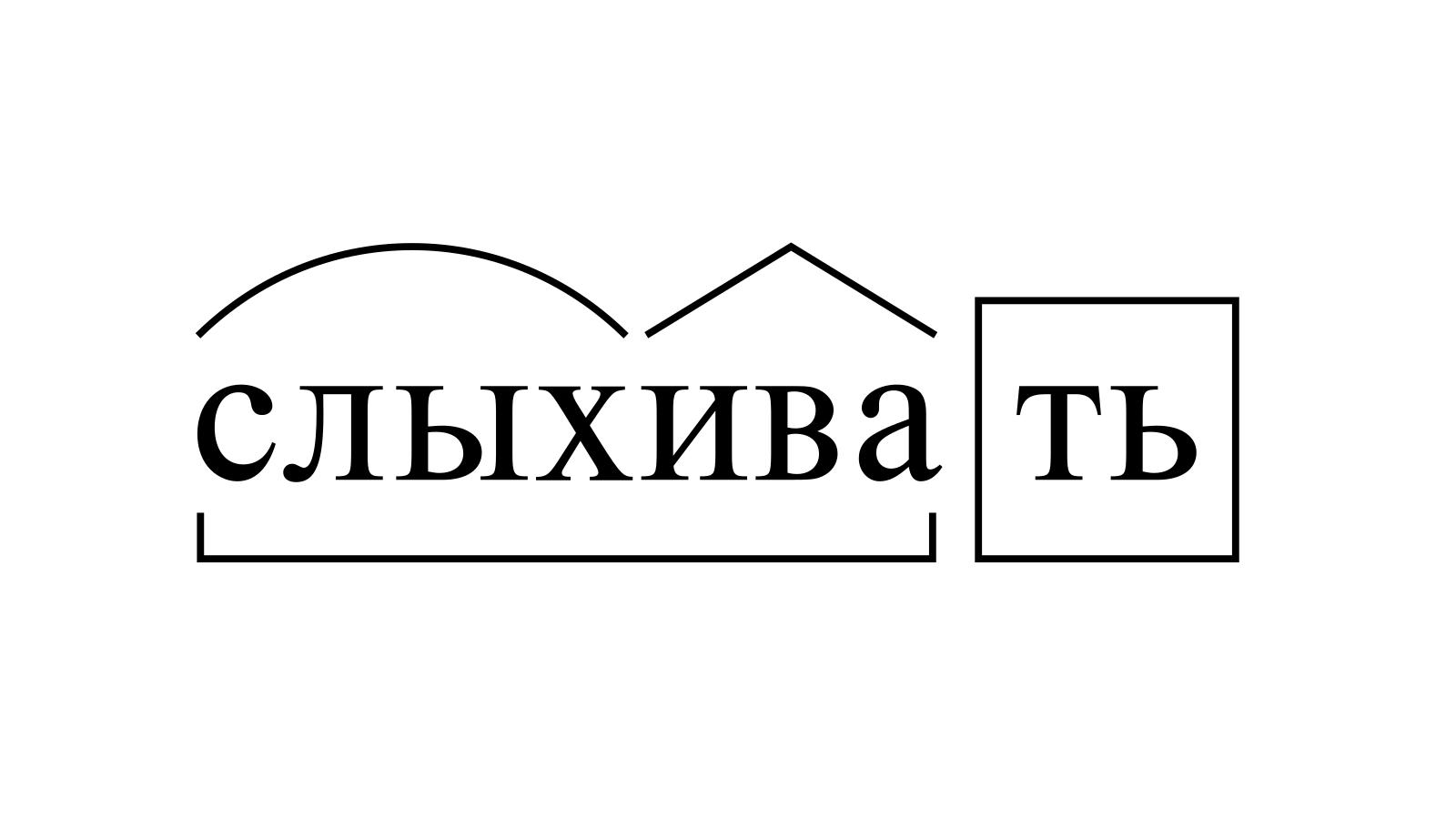 Разбор слова «слыхивать» по составу